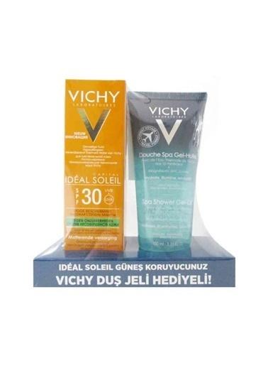 Vichy Ideal Soleil Cilt Kusurlarına Karşı Güneş Bakım Kremi SPF30 50 ml + Ideal Body Duş Jeli 100 ml  Renksiz